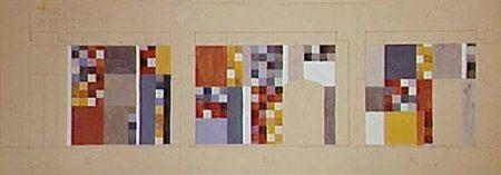 Aubette 186 | Entwurf für die Wände der Aubette-Bar | Sophie Taeuber-Arp