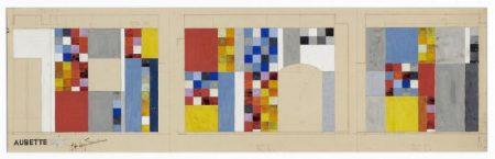Aubette 198 | Entwurf für die Wände der Aubette-Bar | Sophie Taeuber-Arp