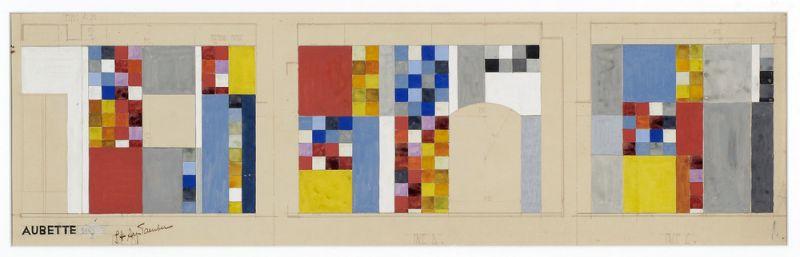 Aubette 198   Entwurf für die Wände der Aubette-Bar   Sophie Taeuber-Arp