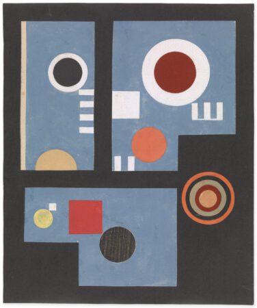 Composition à cercles multicolores